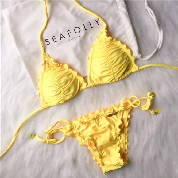 15e3b0604b5e41 Seafolly yellow scrunch bikini. M_5a9f1aaca825a68ea19feae4